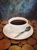 таблица кофейной чашки стоковые изображения rf