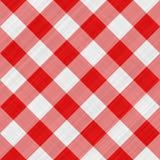 таблица красного цвета ткани Стоковое Фото