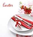 таблица красного цвета украшения Стоковые Изображения RF