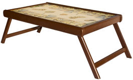 таблица кровати стоковая фотография rf