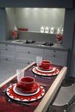 таблица кухни завтрака самомоднейшая Стоковые Изображения RF