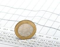 таблица монетки стоковые изображения