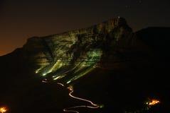 таблица ночи горы Стоковые Изображения