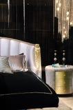 таблица ночи кровати роскошная Стоковые Изображения RF