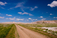 таблица овец дороги горы Стоковое Изображение