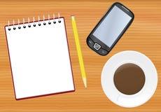 таблица офиса блокнота иллюстрация вектора