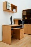 таблица офиса деревянная Стоковые Фотографии RF