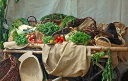 таблица плодоовощ Стоковая Фотография RF