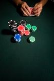 таблица покера казино стоковое изображение