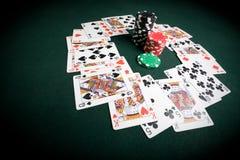 таблица покера казино стоковая фотография rf