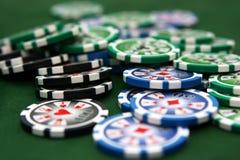 таблица покера Стоковое Фото
