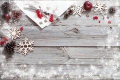 Таблица праздников рождества Стоковые Изображения