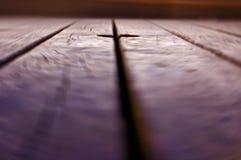 таблица предпосылки деревянная Стоковые Фото