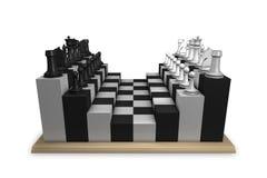 таблица принципиальной схемы шахмат Стоковые Фото