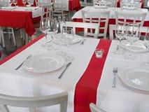 таблица ресторана Стоковые Фотографии RF