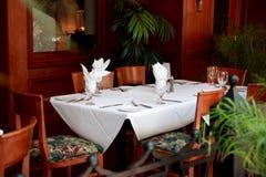 таблица ресторана Стоковые Фото