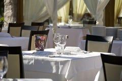 таблица ресторана Стоковое Изображение RF