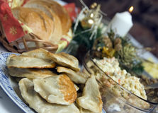 таблица рождества польская Стоковые Изображения