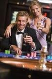 таблица рулетки пар играя в азартные игры Стоковая Фотография