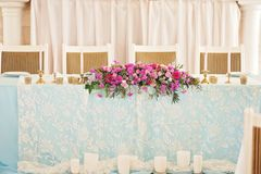 Таблица свадьбы оформления искусства Стоковые Изображения RF