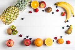 таблица свежих фруктов Стоковое Изображение