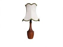 таблица светильника деревянная стоковые фото