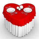 таблица сердца 3d Стоковые Изображения