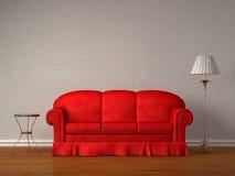 таблица стойки софы светильника красная бесплатная иллюстрация