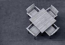 таблица стула пустая Стоковые Фото