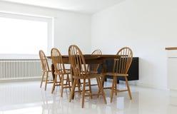 таблица стулов обедая Стоковые Фотографии RF