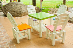 таблица стулов 4 Стоковая Фотография RF