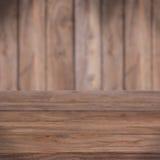 Таблица с деревянной текстурой Стоковые Изображения RF