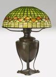таблица тени светильника низкопробного бондаря стеклянная запятнанная Стоковые Фото