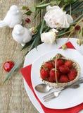 таблица установки десерта Стоковые Изображения RF