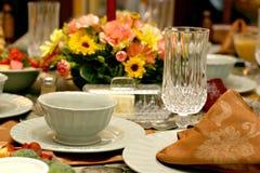 таблица установки еды праздника Стоковые Изображения