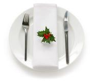 таблица установки обеда рождества Стоковое Фото
