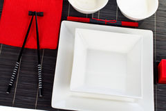 таблица установки обеда Стоковые Изображения RF