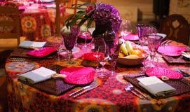 таблица установки обеда Стоковая Фотография RF
