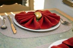 таблица установки плиты места обеда Стоковые Изображения