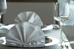 таблица установки ресторана Стоковая Фотография