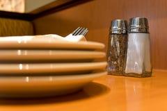 таблица установки ресторана Стоковое Изображение