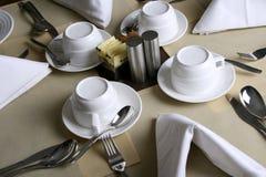 таблица установки ресторана Стоковое Фото
