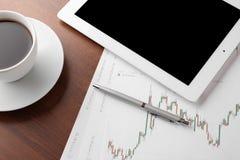 Таблица финансов Стоковые Изображения RF