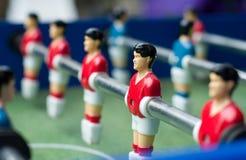 таблица футбола игроков красная Стоковая Фотография