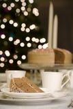 таблица части шоколада торта Стоковое Изображение
