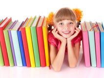 таблица чтения ребенка книги открытая стоковые изображения rf