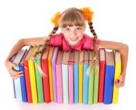 таблица чтения ребенка книги открытая стоковое фото