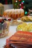 таблица шведского стола закусок Стоковая Фотография