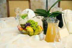 таблица frutis банкета Стоковое Фото