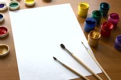 таблица gouache чертежа Стоковое Изображение